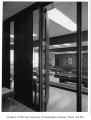 University of Washington Faculty Center interior showing game room, Seattle, 1960