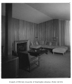 Mayer residence interior showing living room, Seattle, 1950