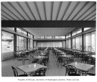 University of Washington Faculty Center interior showing dining area, Seattle, 1960