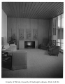 Wanamaker residence interior showing living room, Seattle, 1957