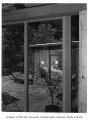 Alger residence exterior showing patio, Seattle, 1955