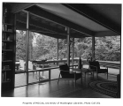 Anderson residence interior showing living room, Auburn, 1961