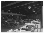 Associated Grocers interior showing dining area, Seattle, 1952