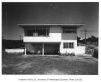 Shaffer residence exterior from rear, Seattle, 1946