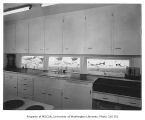 Smith residence interior showing kitchen, Seattle, 1947