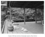 Anderson residence exterior showing deck, Auburn, 1961