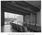Associated Grocers interior showing meeting room, Seattle, 1952
