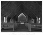 Church of the Brethren interior showing chapel, Seattle, 1949