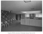 Associated Grocers interior showing reception area, Seattle, 1952