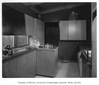 Alger residence interior showing kitchen, Seattle, 1955