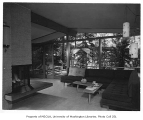 Rind residence interior showing sitting room, Bellevue, 1957