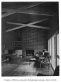 Smith residence interior showing living room, Seattle, 1947
