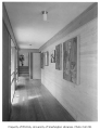 Anderson residence interior showing hallway, Auburn, 1961