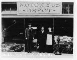 Motor Bus Depot in Seattle, Hank Ellington and friend[s]