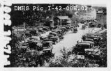 Cars in lot at north end of Draper's Park, 1923