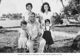 Anton DeBrum with his daughters and grandchildren, Likiep Island, summer 1949