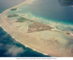 Aerial view of northern islands in Enewetak Atoll, August 13, 1964