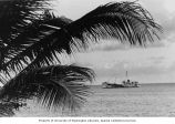 Inter-island steamer RAN-ANNIM anchored off of Bikini Island, summer 1964