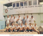 Group photograph of researchers aboard the ship RAN-ANNIM, summer 1964