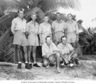 Group portrait of Bikini Resurvey scientists who studied under Dr. L. P. Schultz, Bikini Atoll,...