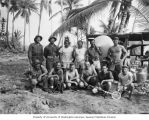 Members of the scientific team ashore on Prayer Island, July 15, 1947