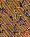 Vintage 19th c. marbled paper, Spanish on Turkish pattern