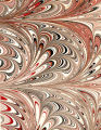 Modern 20th c. marbled paper, Cathedral pattern