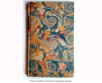 Vintage 19th c. marbled paper, French Curl pattern