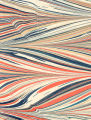 Modern 20th c. marbled paper, Feather pattern