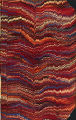 Vintage 19th c. marbled paper, Nonpareil pattern