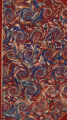 Vintage 19th c. marbled paper, French curl on Turkish pattern