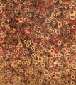 Vintage 18th c. marbled paper, Shell pattern
