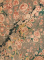 Vintage 18th c. marbled paper, Shell on Romantic with Turkish veins pattern