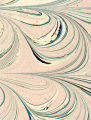Modern 20th c. marbled paper, comb