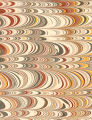 Modern 20th c. marbled paper, Wide comb alternating pattern, variation