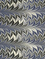 Modern 20th c. marbled paper, Fern pattern