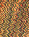 Modern 20th c. marbled papers, Chevron pattern