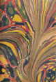 Vintage 18th c. marbled paper, Spot Combed pattern
