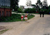 Children on the street in Zinyaki village