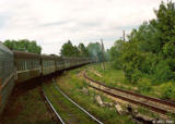 Train from Pskov to Moscow