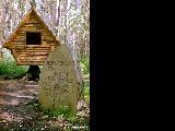 "House on ""hen's legs,"" belonging to the Russian fairy tale figure Baba Yaga, in the..."