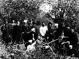 Group of 19th century Samara's elite on a picnic in the forest.