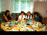 Russian social workers at lunch in an orphange in Zheleznogorsk
