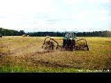 Harvest time on the fields near Zheleznogorsk
