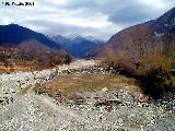 Dry river bed on the road from Sheki to the village of Kis