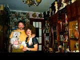 Russian couple in a typical appartment in Petrozavodsk