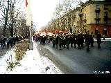 Political demonstration in Petrozavodsk, calling for the restoration of the communist regime.