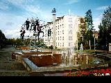 Fountain on the university grounds in Petrozavodsk