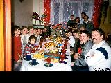 Members of the Russian Church of Jesus Christ of Latter Day Saints during a party celebrating the...