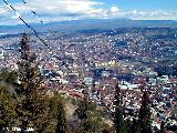 View from a hill over Tbilisi